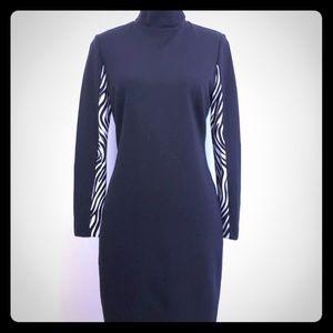 Carlisle mock neck long sleeve sheath dress